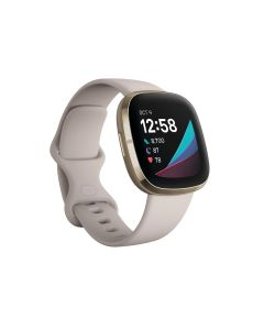 FitBit Sense Lunar White / Soft Gold Stainless S
