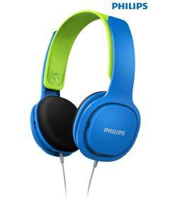Auriculares Philips diadema para niños azul verde