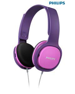 Auriculares Philips diadema para niños rosa y mora